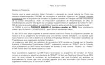 Kpten Formation demande officiellement à OMT-France la reconnaissance du programme de formation du système canadien en TMO