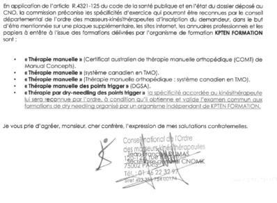 Certifications des formations Kpten