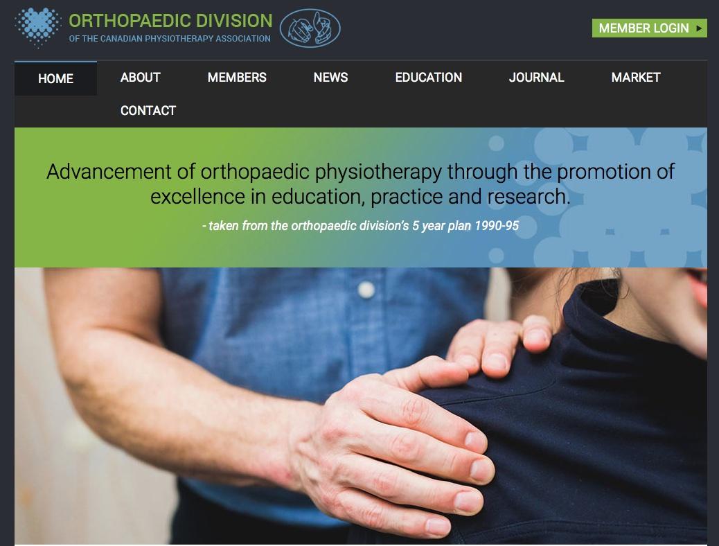 Examen pratique intermédiaire en thérapie manuelle orthopédique Système canadien – division d'orthopédie de l'Association Canadienne de Physiothérapie